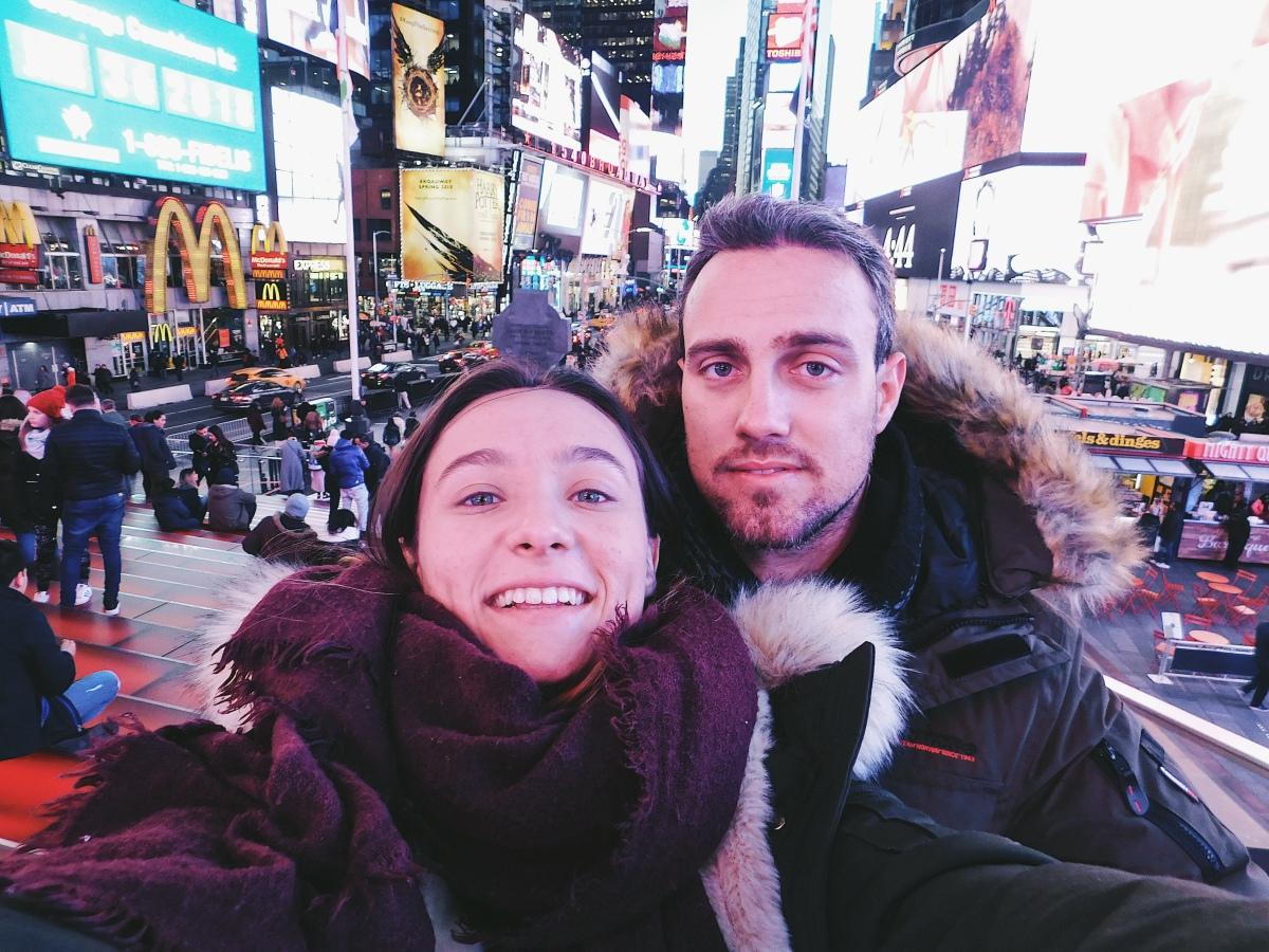 Notre voyage à N.Y.C, enceinte de 2mois.